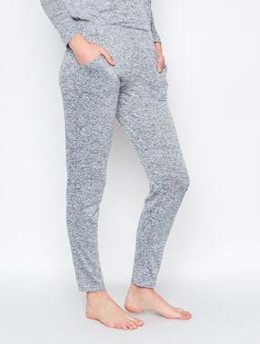 Pantalón hogareño jaspeado c.gris.