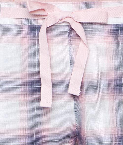 Pantalón corto estampado a cuadros