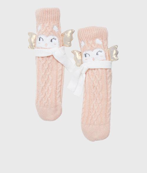 Calcetines tricotados con forro