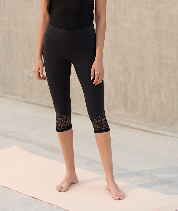 Leggings de yoga capri, motivos de encaje