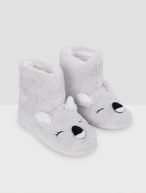 Zapatillas tipo botines koala c.gris.