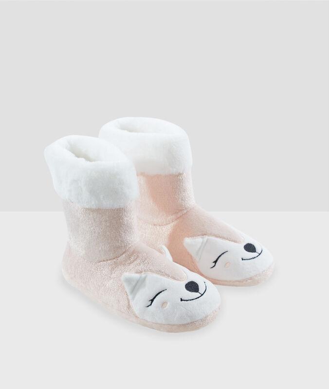 Zapatillas botín zorro rosa.