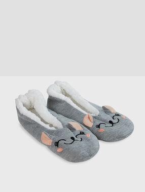 Zapatillas ratoncitos rojo.