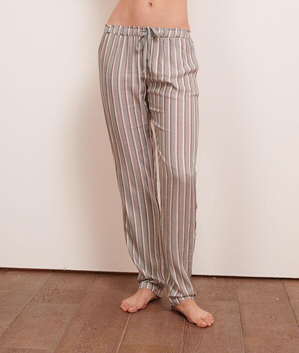 Pantalón estampado de rayas;${refinementColor}