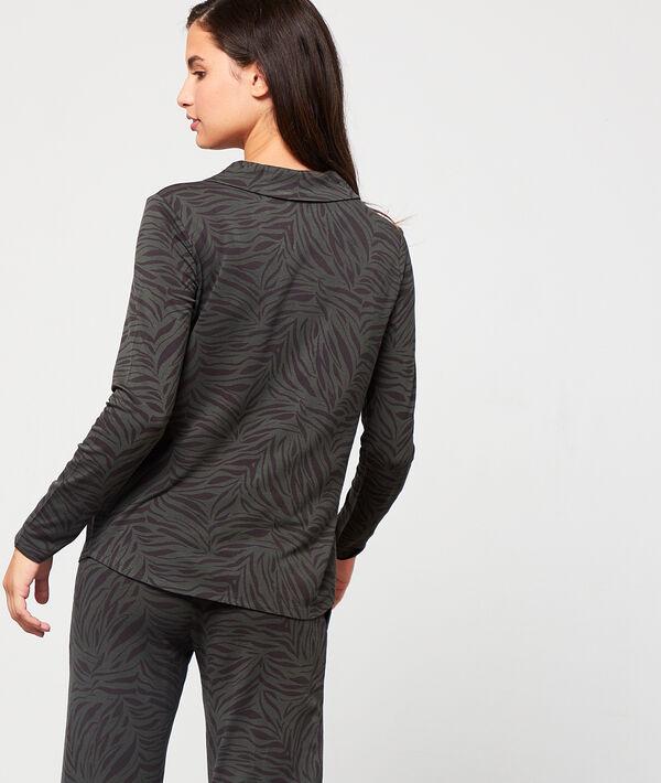 Camisa pijama estampado cebra