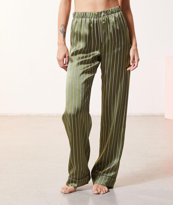 Pantalón pijama seda rayas;${refinementColor}