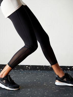 Leggings 7/8 detalle tul negro.