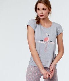Camiseta flamenco c.gris.