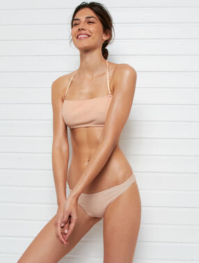 Sujetadir bikini tirantes extraíbles coral.