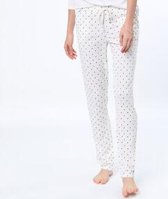 Pantalón estampado blanco.