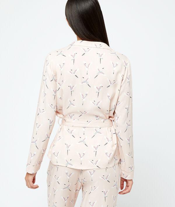 Camisa pijama estampado pájaros;${refinementColor}