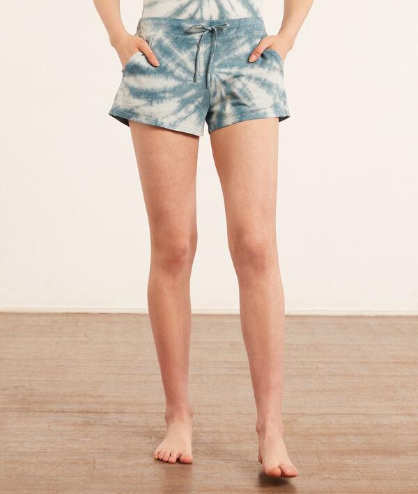 Pantalón corto estampado tie-dye;${refinementColor}