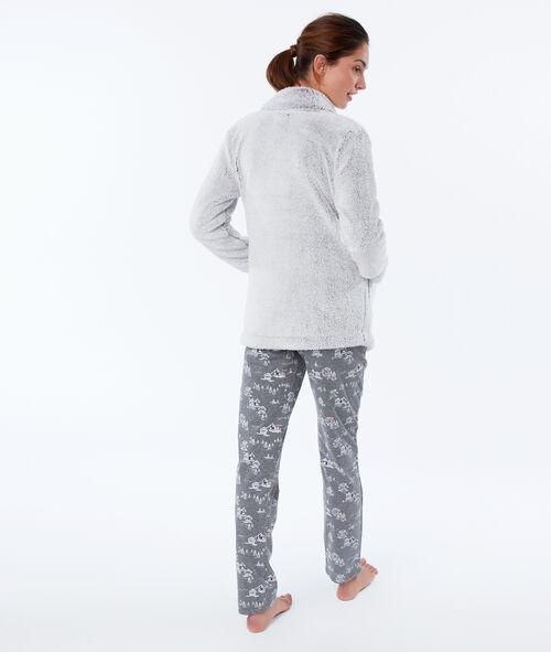 Pijama 3 piezas oso y pingüino