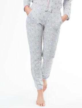 Pantalón estampado gatos c.gris.