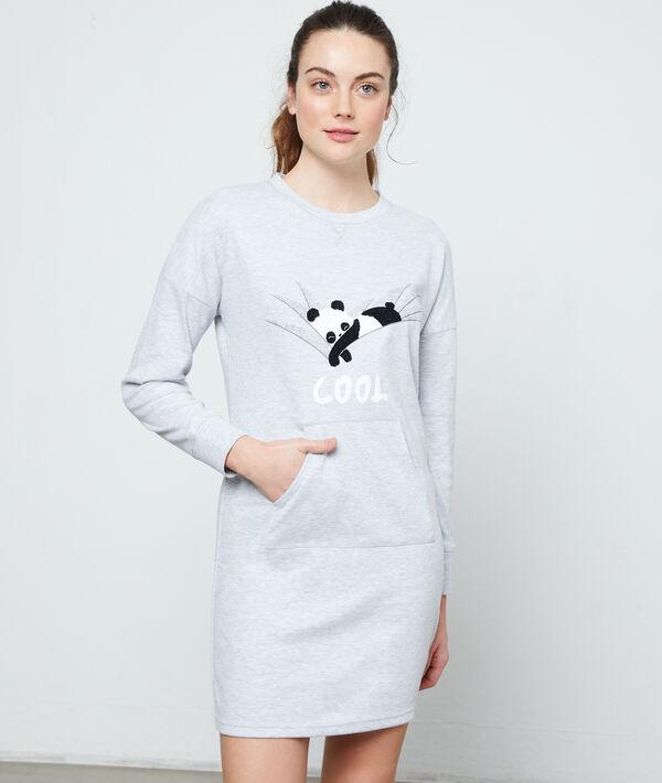 Camisón manga larga 'panda cool'