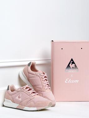 Zapatillas etam x le coq sportif rosa pálido.
