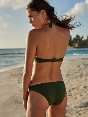Braguita bikini tejido brillante negro.