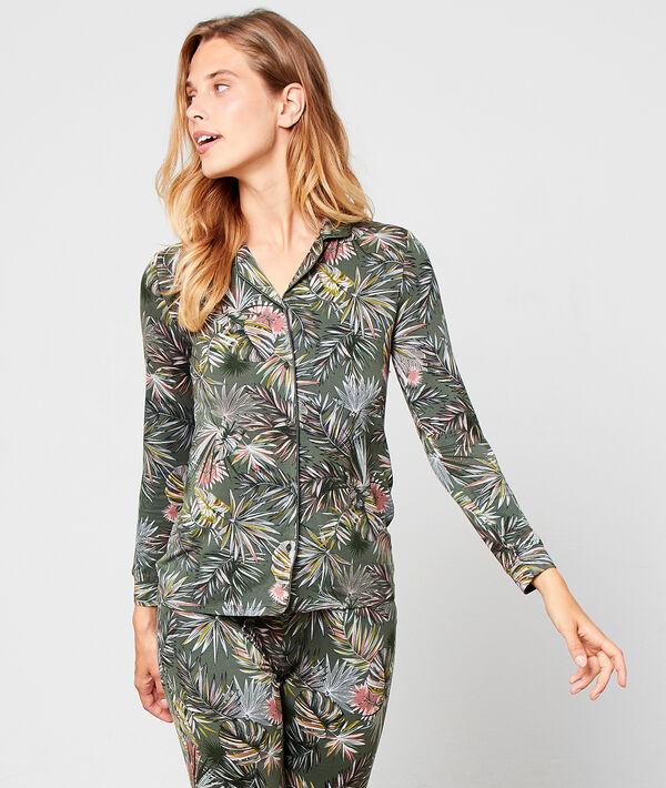Camisa pijama estampado jungla