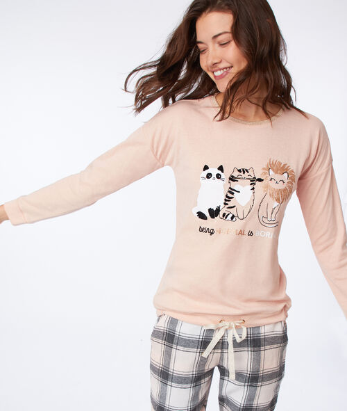 Camiseta manga larga felinos
