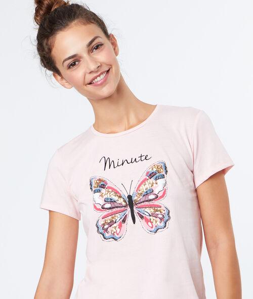 Camiseta estampado mariposa