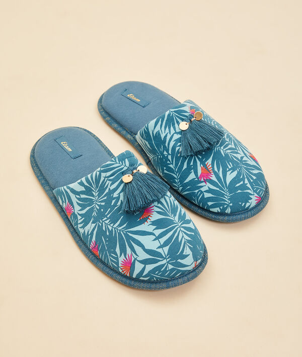 Zapatillas destalonadas estampado tropical;${refinementColor}
