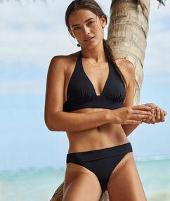 Braguita bikini lisa negro.