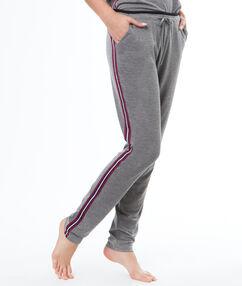 Pantalón largo franjas laterales c.gris.