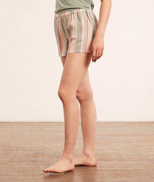 Pantalón corto, estampado rayas;${refinementColor}