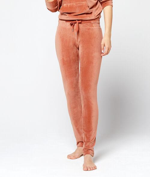 Pantalón homewear terciopelo