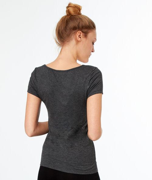 Camiseta manga corta motivos encaje