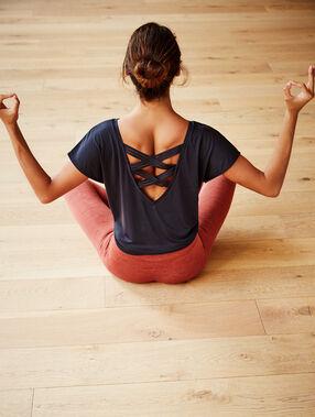 Camiseta yoga gris antracita.