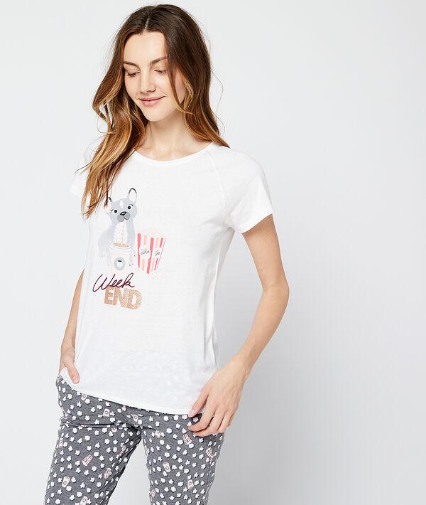 Camiseta estampado perro
