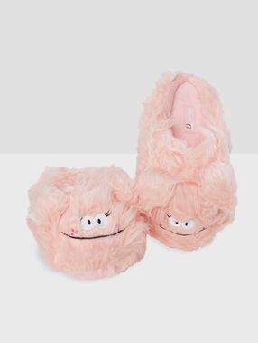 Zapatillas monstruito rosa.