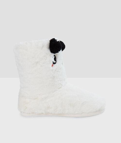 Zapatillas tipo botines con forro panda