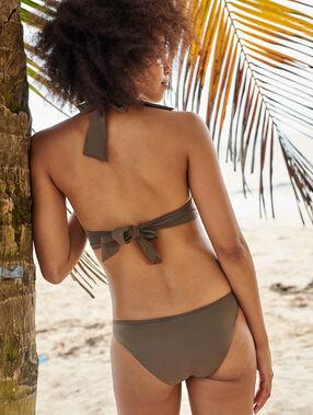 Braguita bikini lisa caqui.