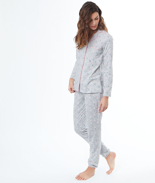 Camisa pijama estampada
