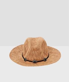 Sombrero playero tipo western marrón.