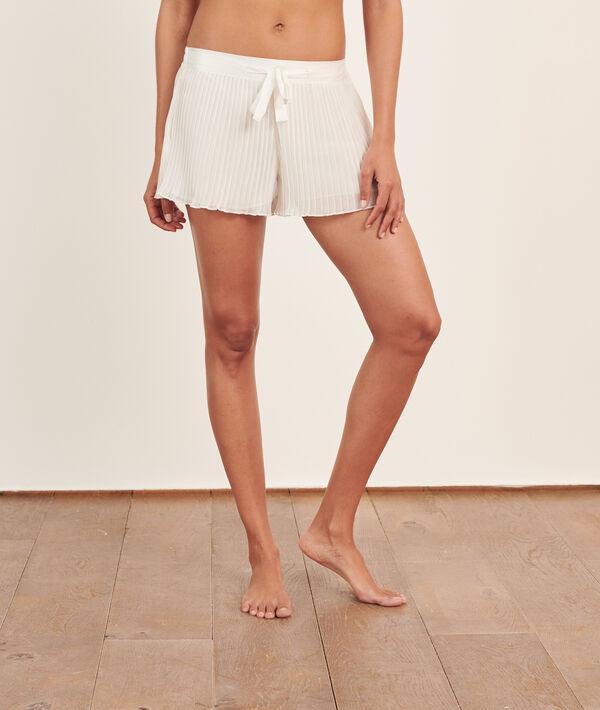 Pantalón corto plisado;${refinementColor}