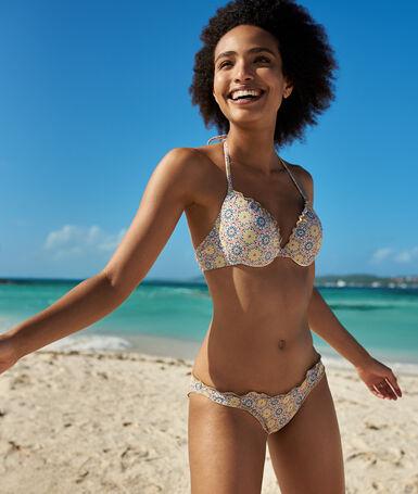 Braguita bikini estampada imp blanco.