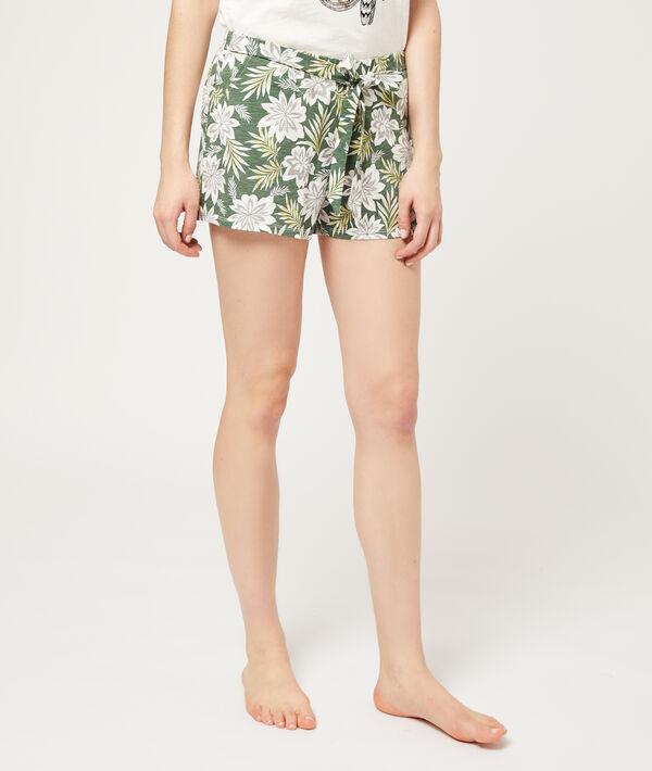 Pantalón corto estampado floral ;${refinementColor}