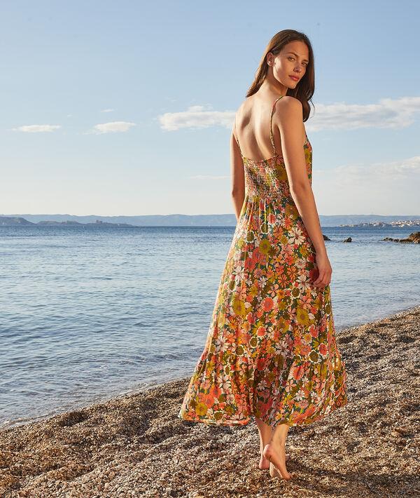 Vestido largo estampado floral;${refinementColor}