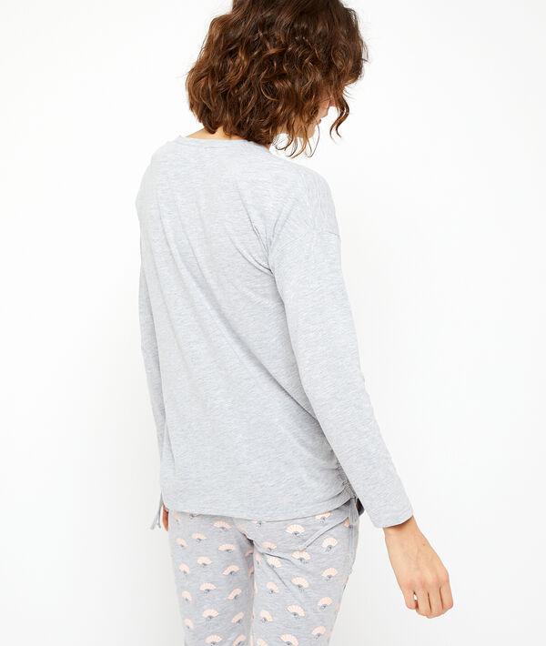Camiseta manga larga  'let's stay in bed'