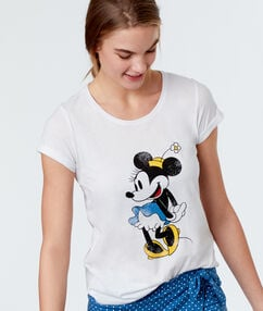 Camiseta manga corta minnie blanco.