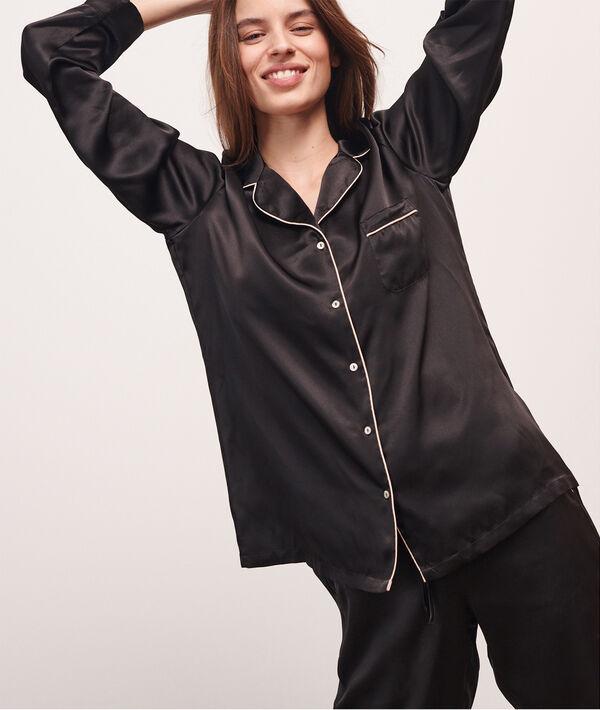 Camisa pijama de seda;${refinementColor}