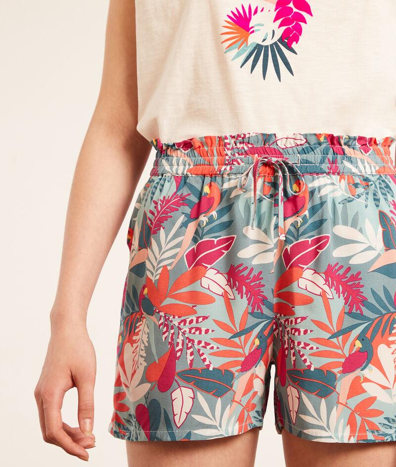 Pantalón corto estampado tropical;${refinementColor}