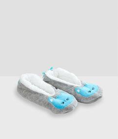 Zapatillas con forro gato c.gris.