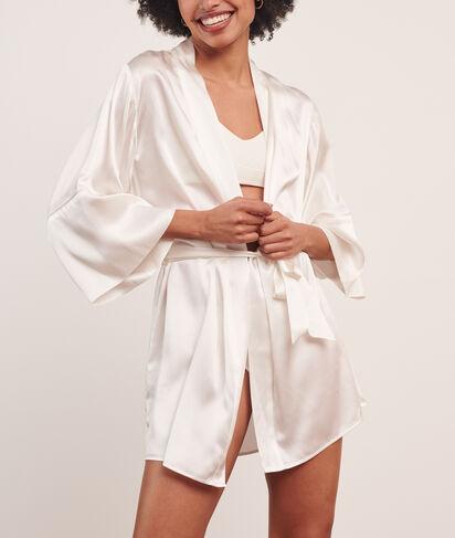 Bata tipo kimono de satén;${refinementColor}