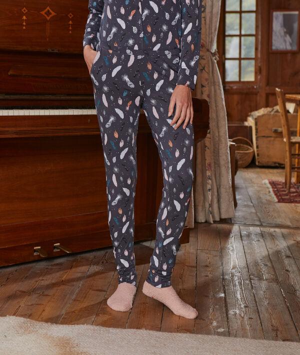 Pantalón pijama estampado plumas