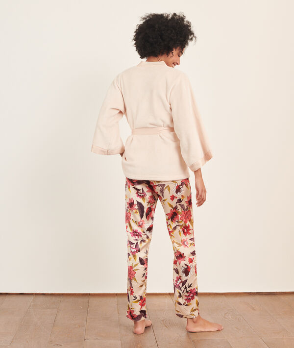 Pijama 3 piezas de satén;${refinementColor}