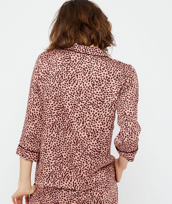 Camisa pijama estampado leopardo